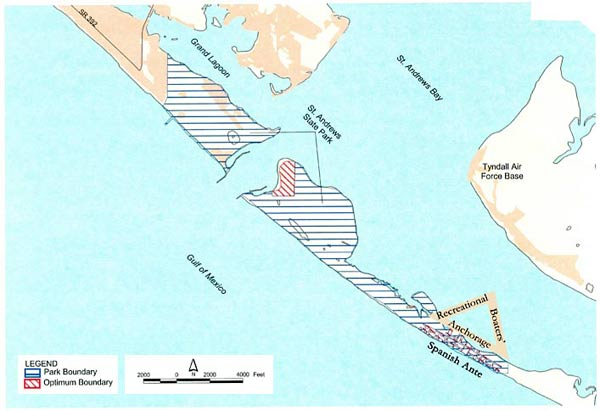 Map of Shell Island and Our Traditional Recreational Anchorage